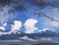 Gestural Cloud Study S.W  from Mooroolbark SOLD